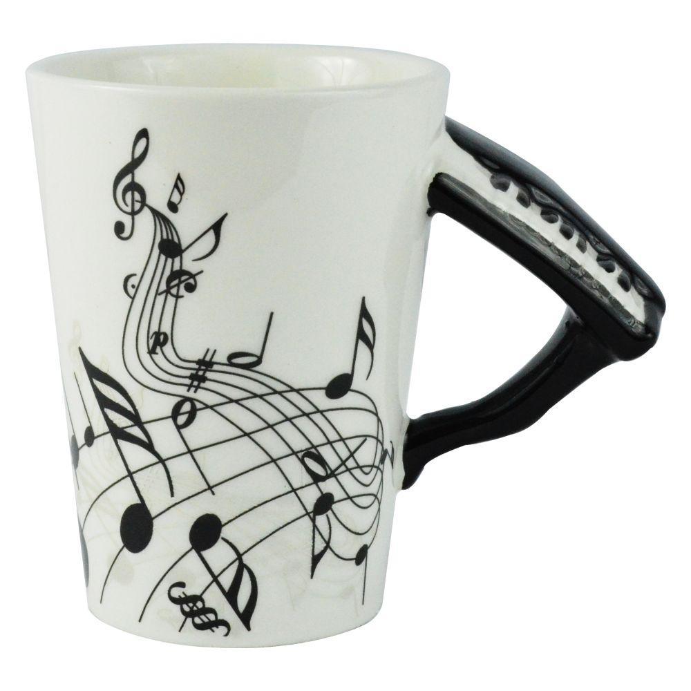 8 oz. Black Piano Coffee Mug