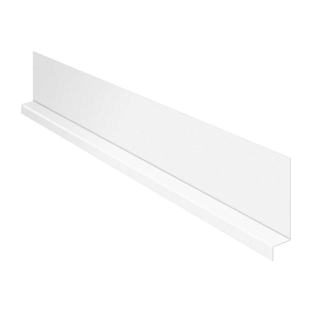 Construction Metals 5/8 in. x 10 ft. Galvanized Steel Z Bar Flashing in White