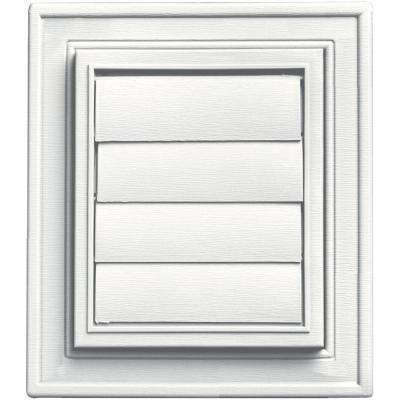 Square Siding Exhaust Vent #123-White