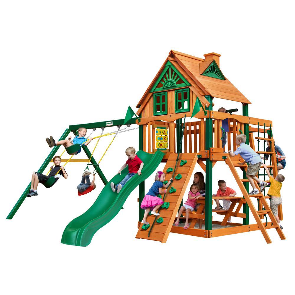 Navigator Treehouse Cedar Swing Set with Timber Shield Posts
