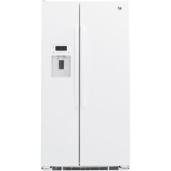 21.9 cu. ft. Side by Side Refrigerator in White, Counter Depth