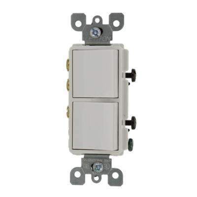 20 Amp Decora Commercial Grade Combination Two 3-Way Rocker Switches, White