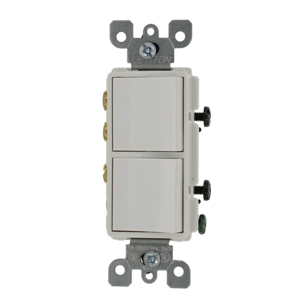 Leviton Decora 15 Amp 4-Way Switch - White-R58-05604-2WS - The Home ...