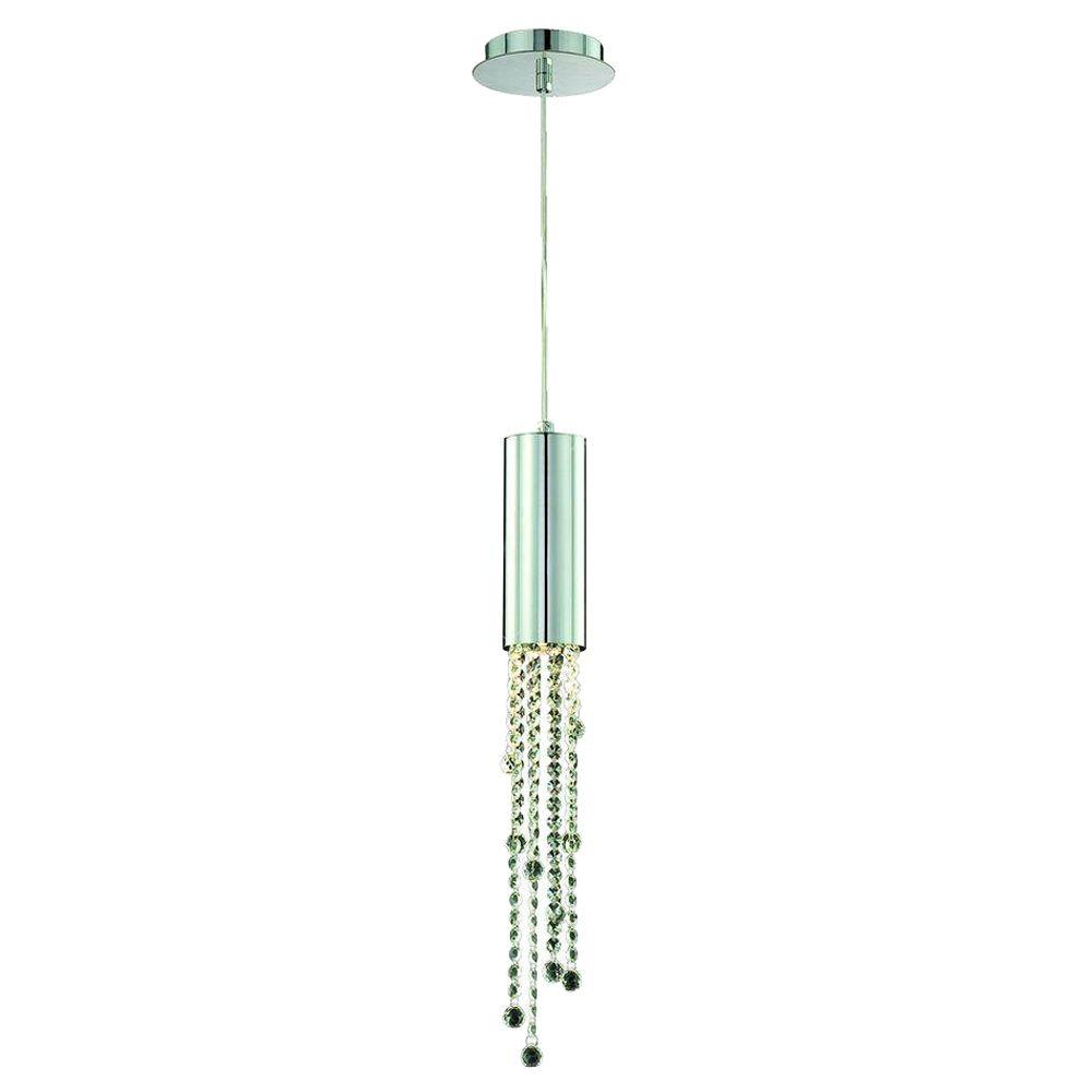 Eurofase Groove Collection 1-Light Chrome Pendant