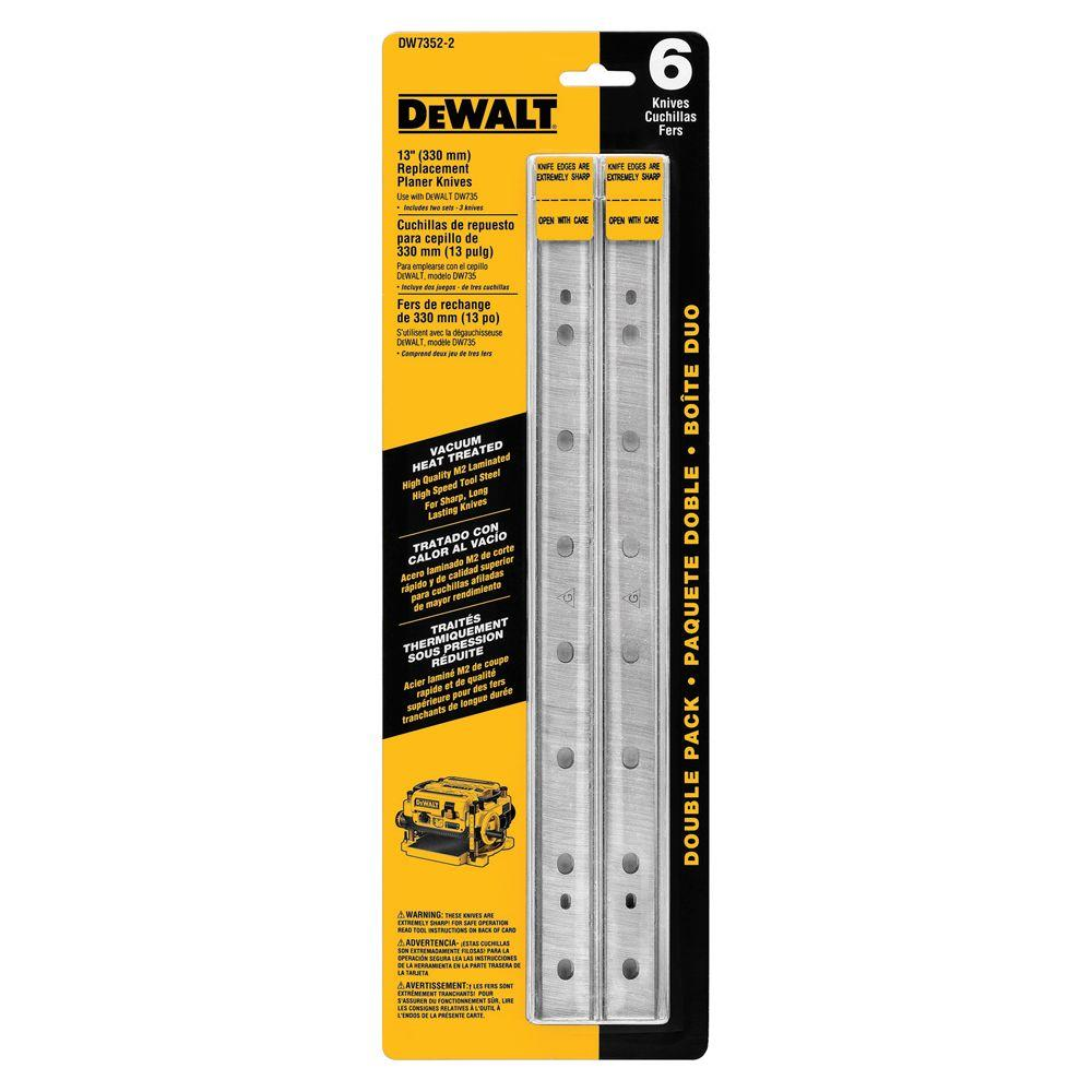 DEWALT 13 in  Heat Treated Double Sided Replacement Planer Knives (2-Pack)
