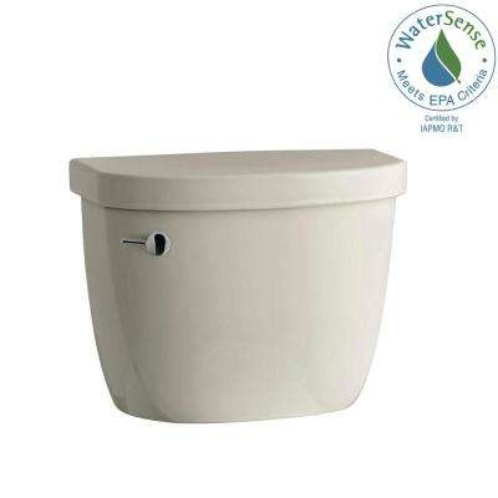 Cimarron 1.28 GPF Single Flush Toilet Tank Only with AquaPiston Flushing Technology in Sandbar