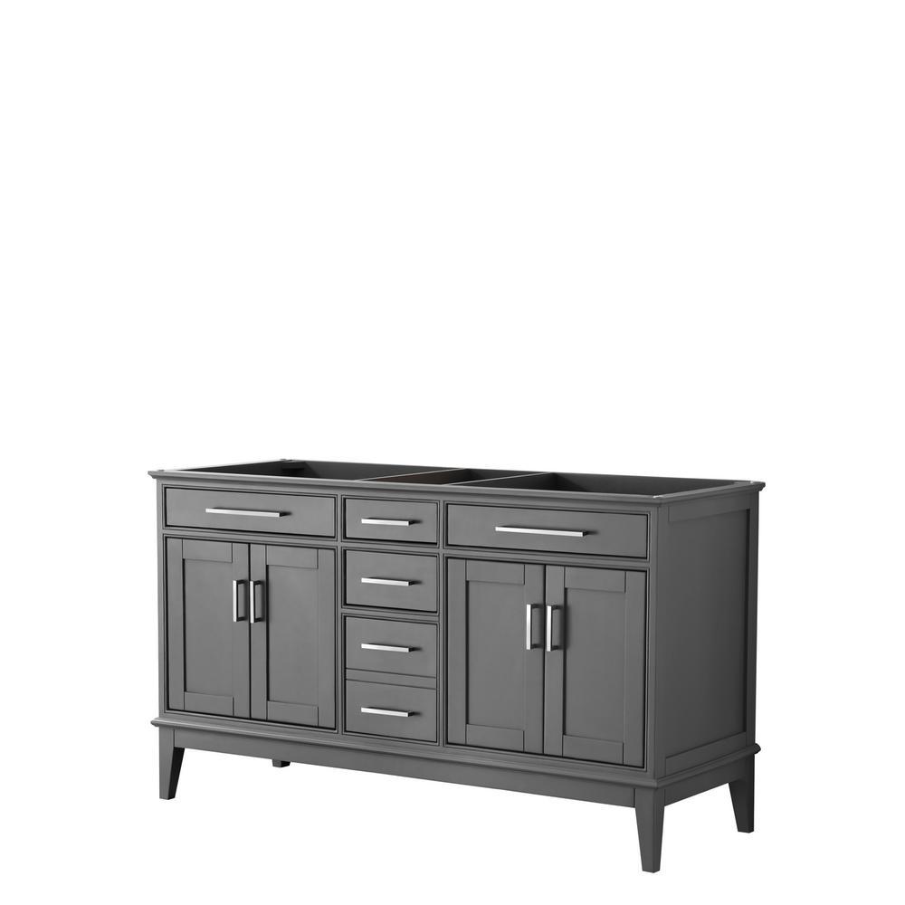 Margate 59 in. W x 21.5 in. D Bath Vanity Cabinet Only in Dark Gray