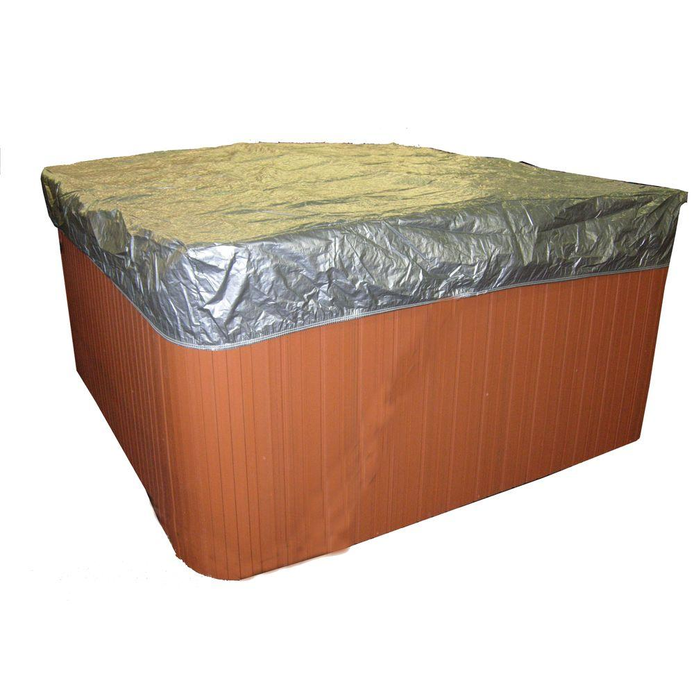 Smart Spa Spa Cover Protecting Polyethylene Caps, 84 in. W x 84 in. L with 12 in. Skirt
