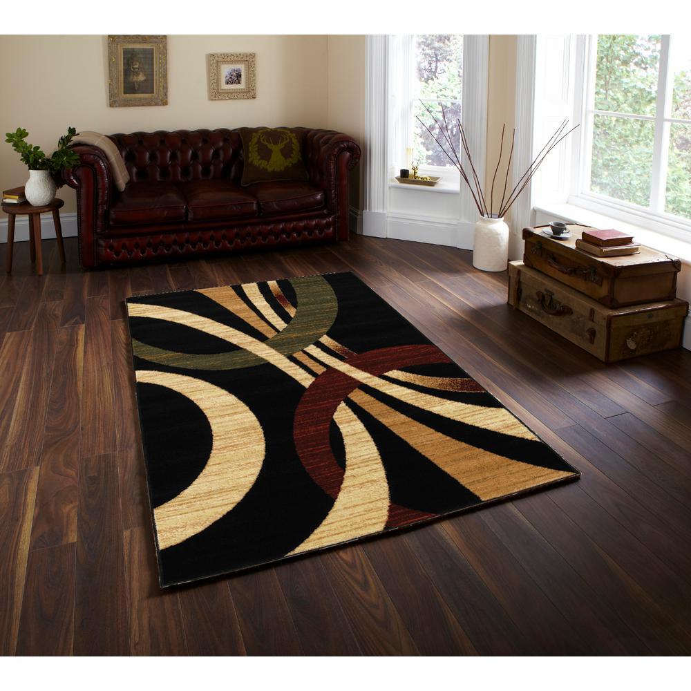 Grace Black 7 ft. 9 in. x 9 ft. 5 in. Plush Indoor Area Rug