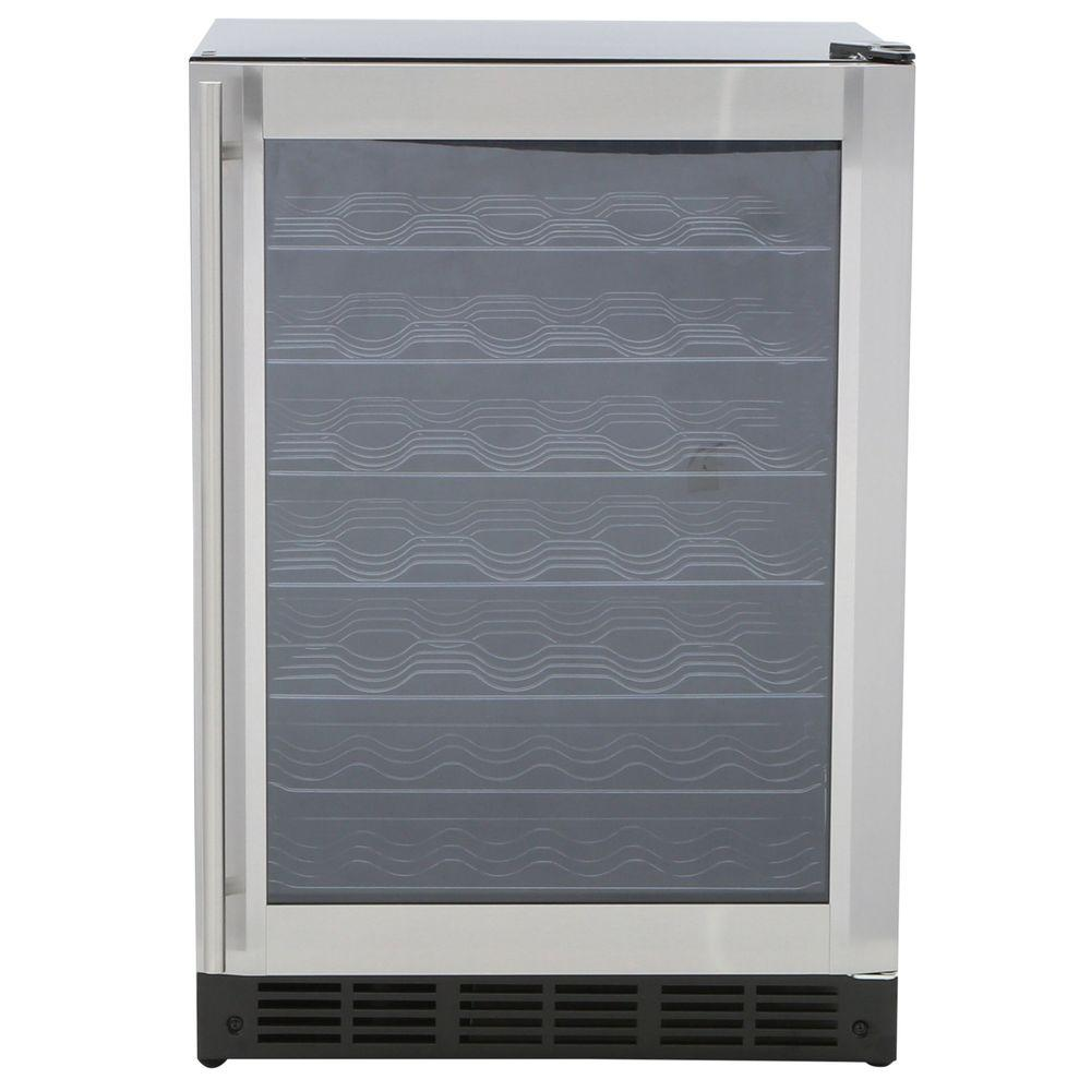 Magic Chef 50-Bottle Wine Cooler, Stainless Door