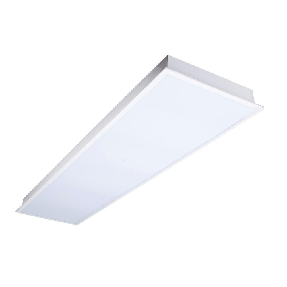 32-Watt Matte White Integrated LED Luminaire Lay In Troffer