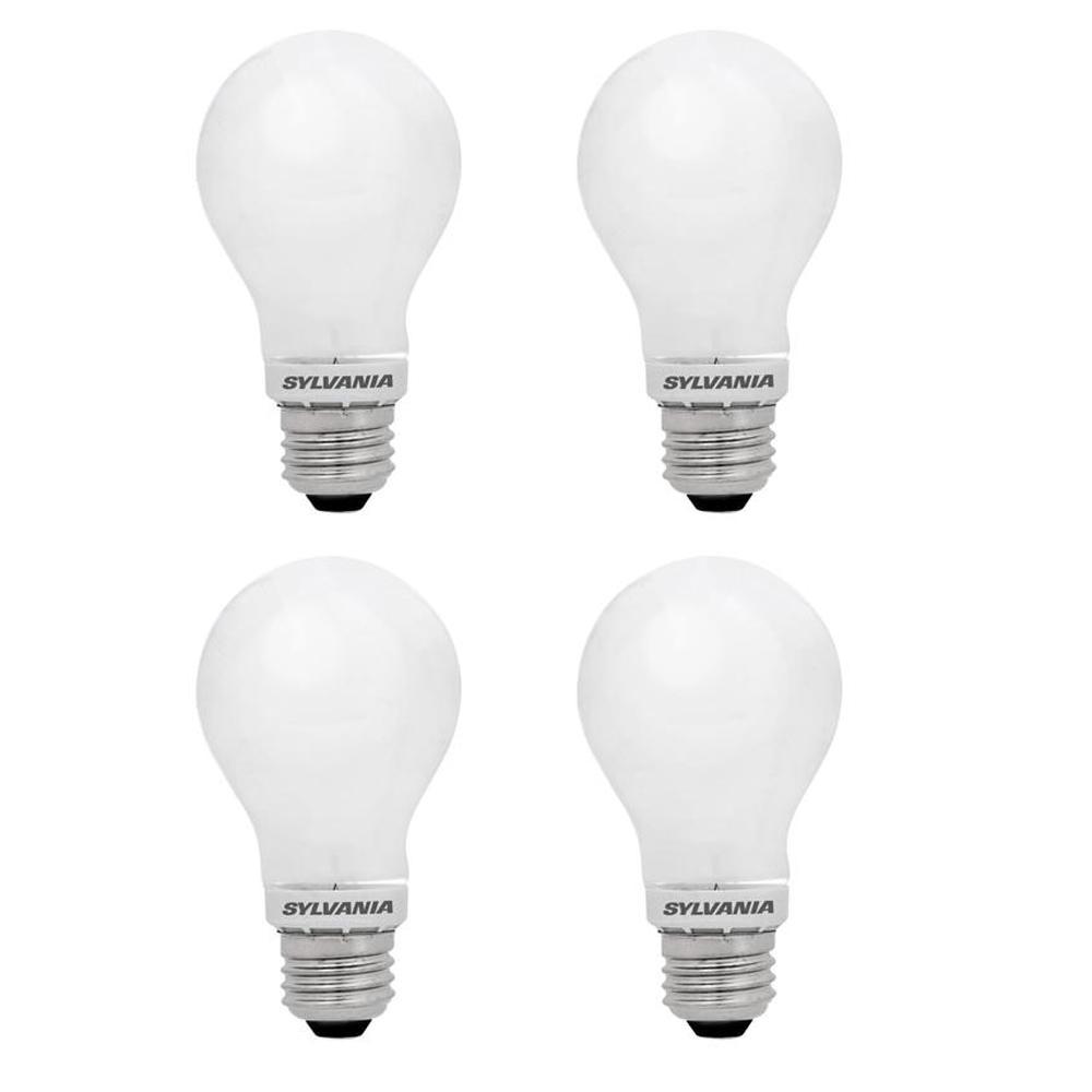 60-Watt Equivalent A19 Dimmable Energy Saving Household LED Light Bulb Warm White (4-Pack)