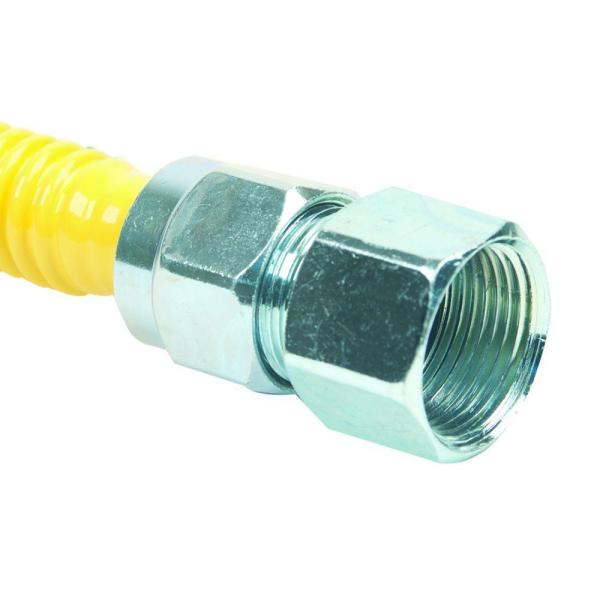 ProCoat 3/4 in. FIP x 3/4 in. FIP Angle Ball Valve x 48 in. Stainless Steel Gas Connector 5/8 in. O.D. (106,000 BTU)