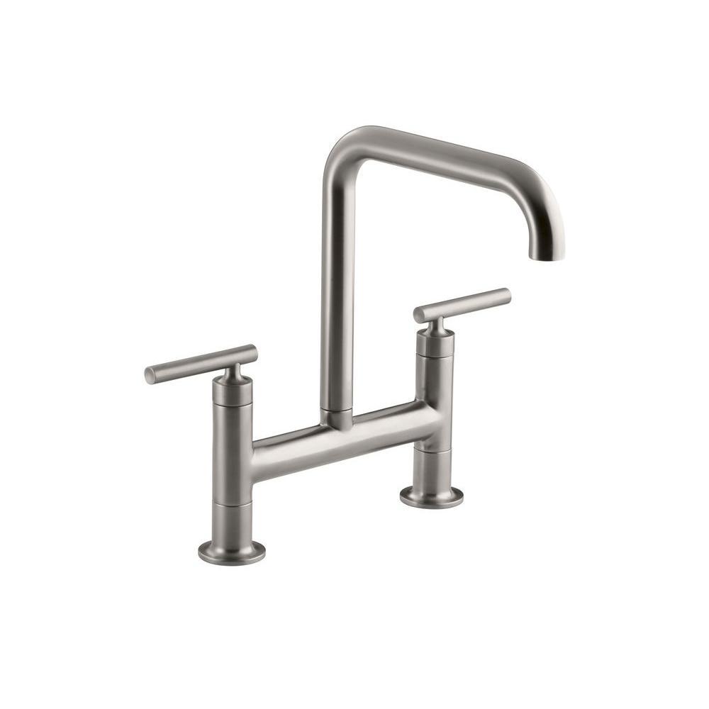 Kohler Faucet K 10433 G Forte Brushed Chrome Pullout Spray: Kohler Kitchen Faucet, Kitchen Kohler Faucet