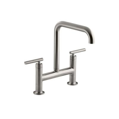 Purist 2-Handle Bridge Kitchen Faucet in Vibrant Stainless