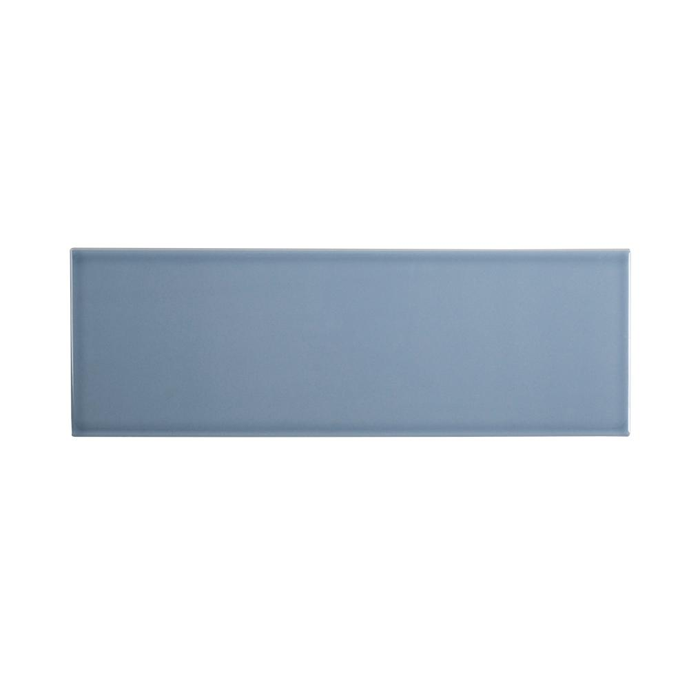 Jeffrey Court Beverly Blue 6 in. x 18 in. Glossy Glazed Ceramic Wall Tile (12.75 sq. ft. / case)