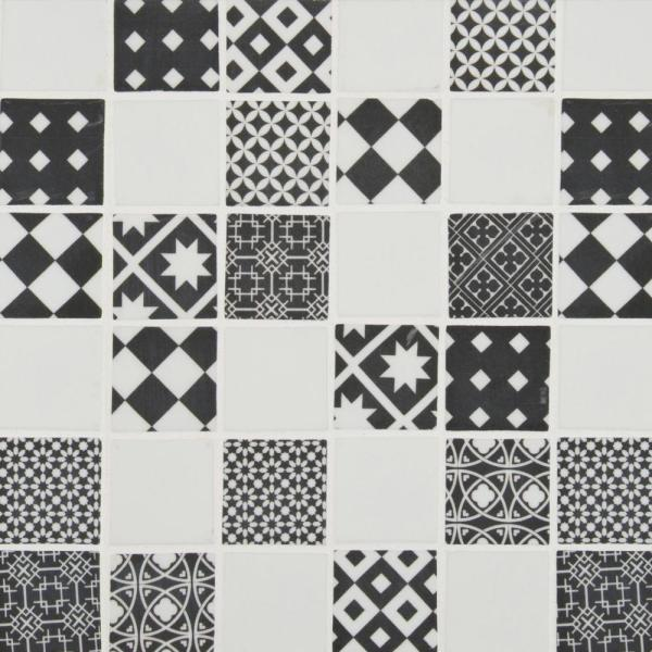 Checkorama 11.75 in. x 11.75 in. x 4mm Matte Glass Mesh-Mounted Mosaic Tile (19.2 sq. ft./Case)