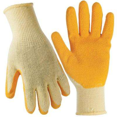 Medium Yellow General Purpose Latex Dip Gloves (3-Pack)