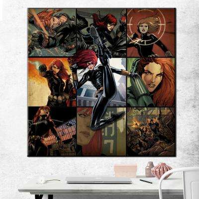 33 in. x 33 in. Black Widow Montage Gallery Wrapped Canvas