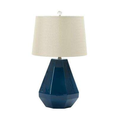 Blue fangio lighting lamps lighting the home depot 25 in teal blue ceramic table lamp fangio lighting 25 in teal blue aloadofball Choice Image