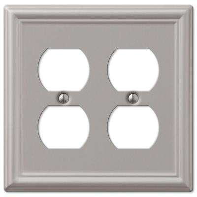 Chelsea 2 Duplex Wall Plate - Brushed Nickel