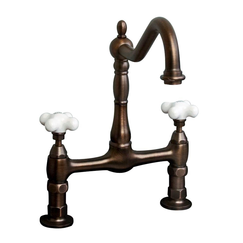 null Dorset 8 in. 2-Handle Lavatory Bridge Faucet in Oil Rubbed Bronze-DISCONTINUED