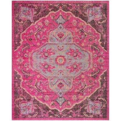 Artisan Fuchsia/Anthracite 8 ft. x 10 ft. Area Rug