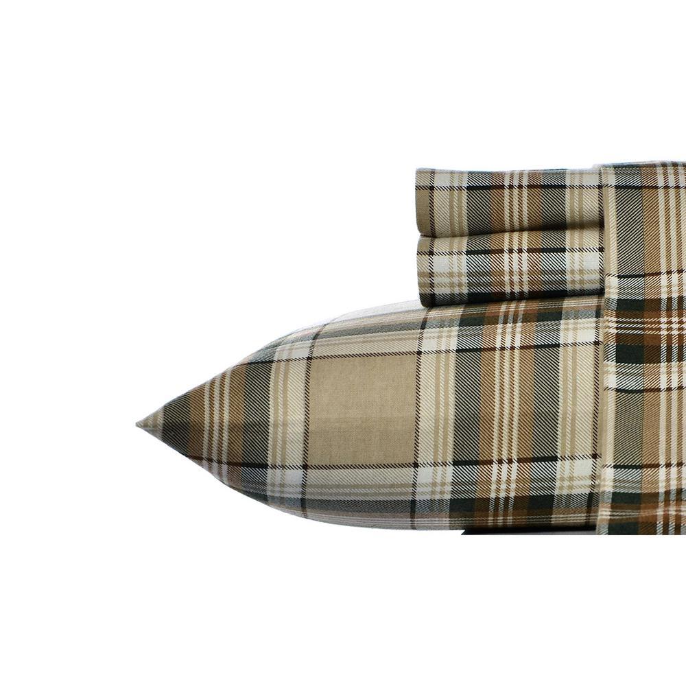 Eddie Bauer Edgewood 3 Piece Green 200 Thread Count Twin XL Sheet
