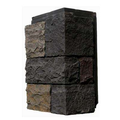 Castle Rock Ashford Charcoal 11 in. x 7 in. Faux Stone Siding Corner (4-Pack)