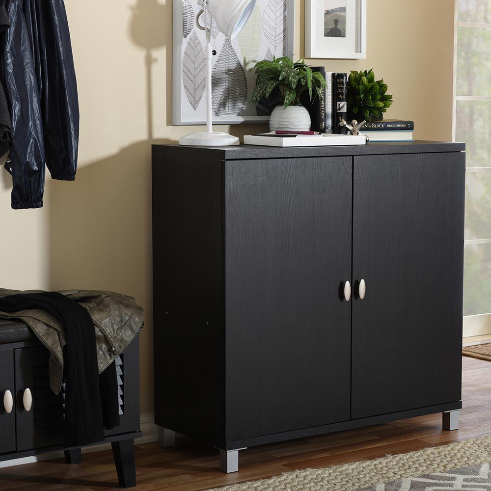 Marcy Dark Brown Storage Cabinet