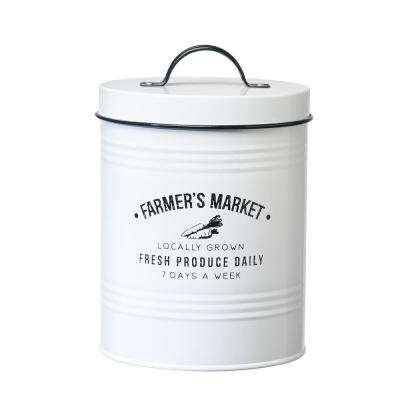 Farmers Market 76 oz. Metal Storage Canister with Arched Handle