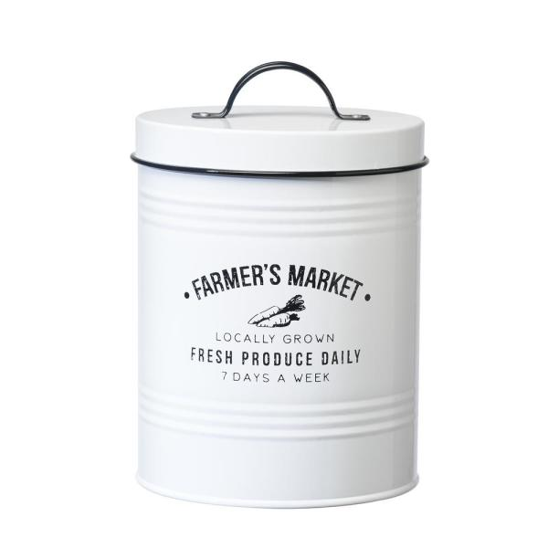 Amici Home Farmers Market 76 oz. Metal Storage Canister with Arched