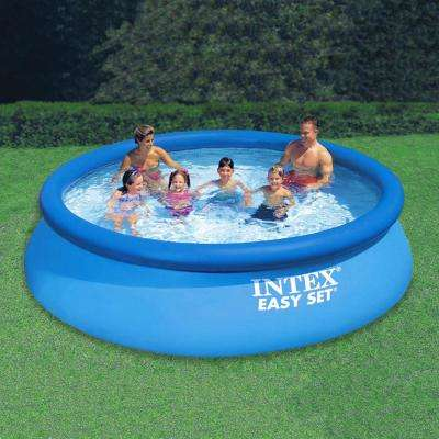 12 ft. Round 30 in. Deep Easy Set Swimming Pool with 330 GPH Filter Pump