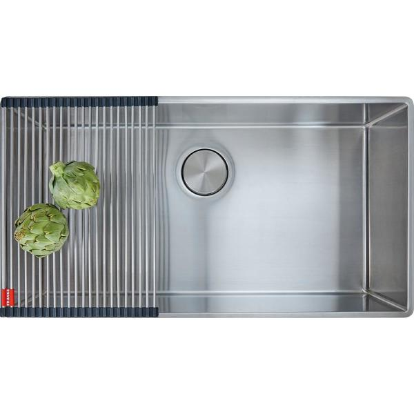 Franke Professional Undermount Stainless Steel 32 5 In X 19 5 In Single Bowl Kitchen Sink Ps2x110 30 The Home Depot
