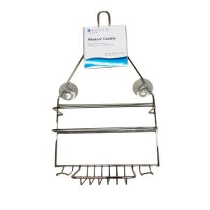 Click here to buy ARISTA Hanging Over-the-Shower Caddy in Chrome by ARISTA.