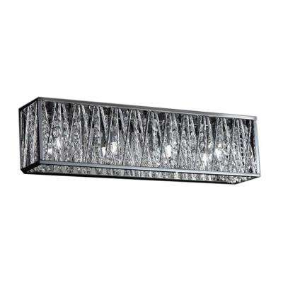 Lawrence 4-Light Chrome Halogen Bath Vanity Light
