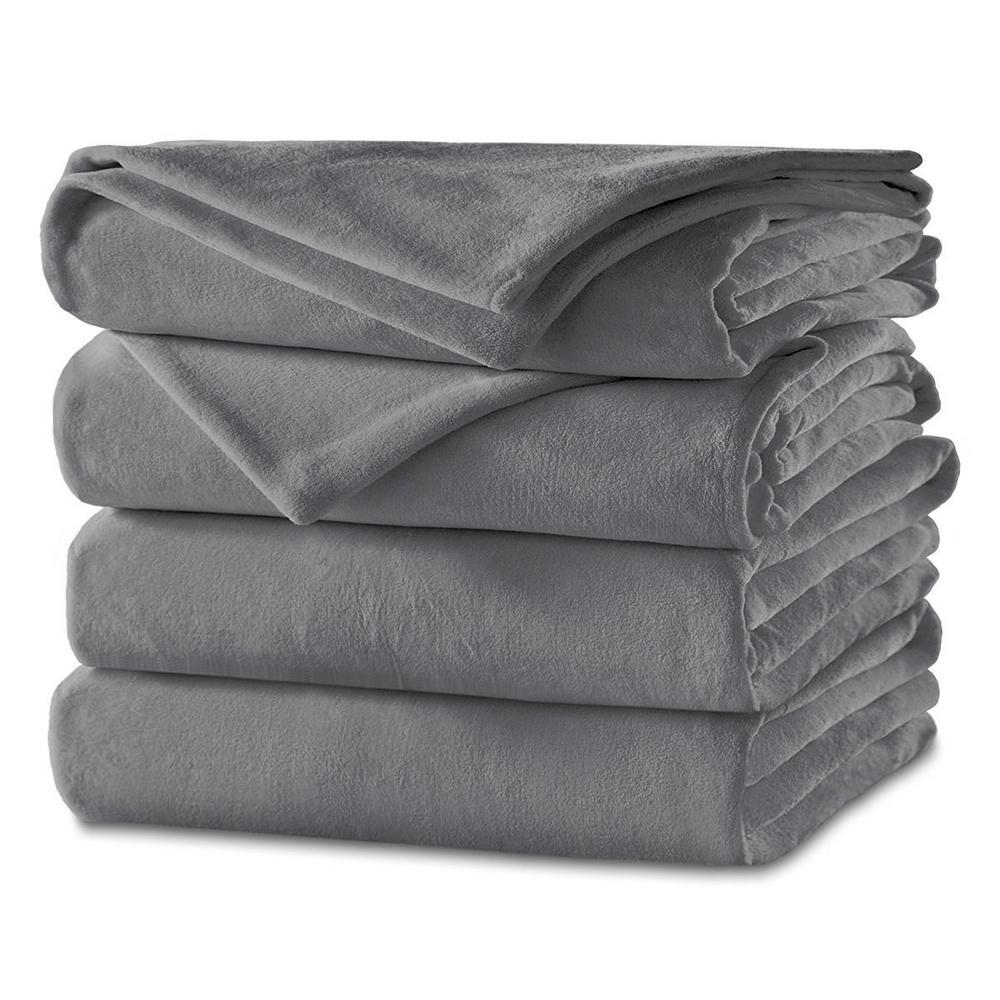Sunbeam Slate (Grey) Twin Heated Blanket