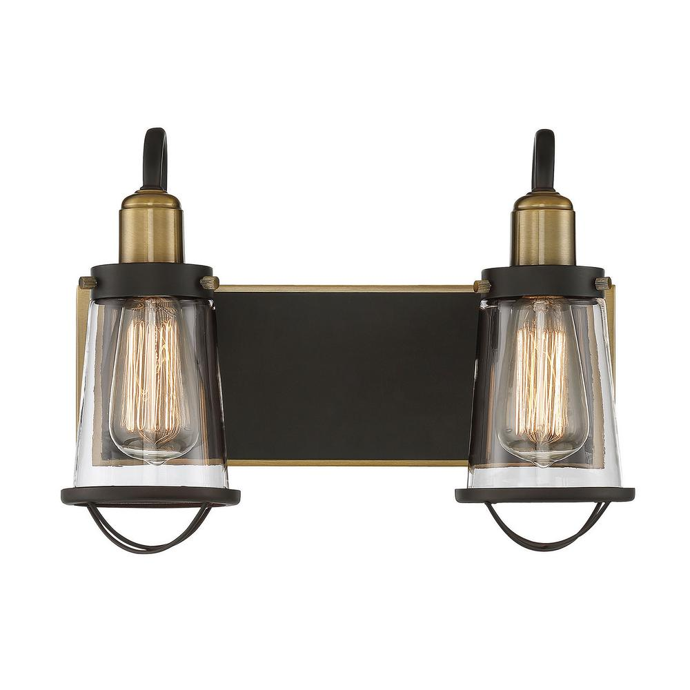 Bathroom Vanity Lights Brass: Filament Design 1-Light Weathered Brass Bath Light-CLI