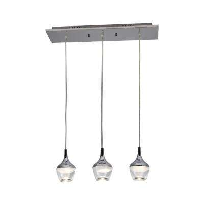 Nexa Collection 75-Watt 3-Light Equilvalent Chrome Integrated LED Pendant