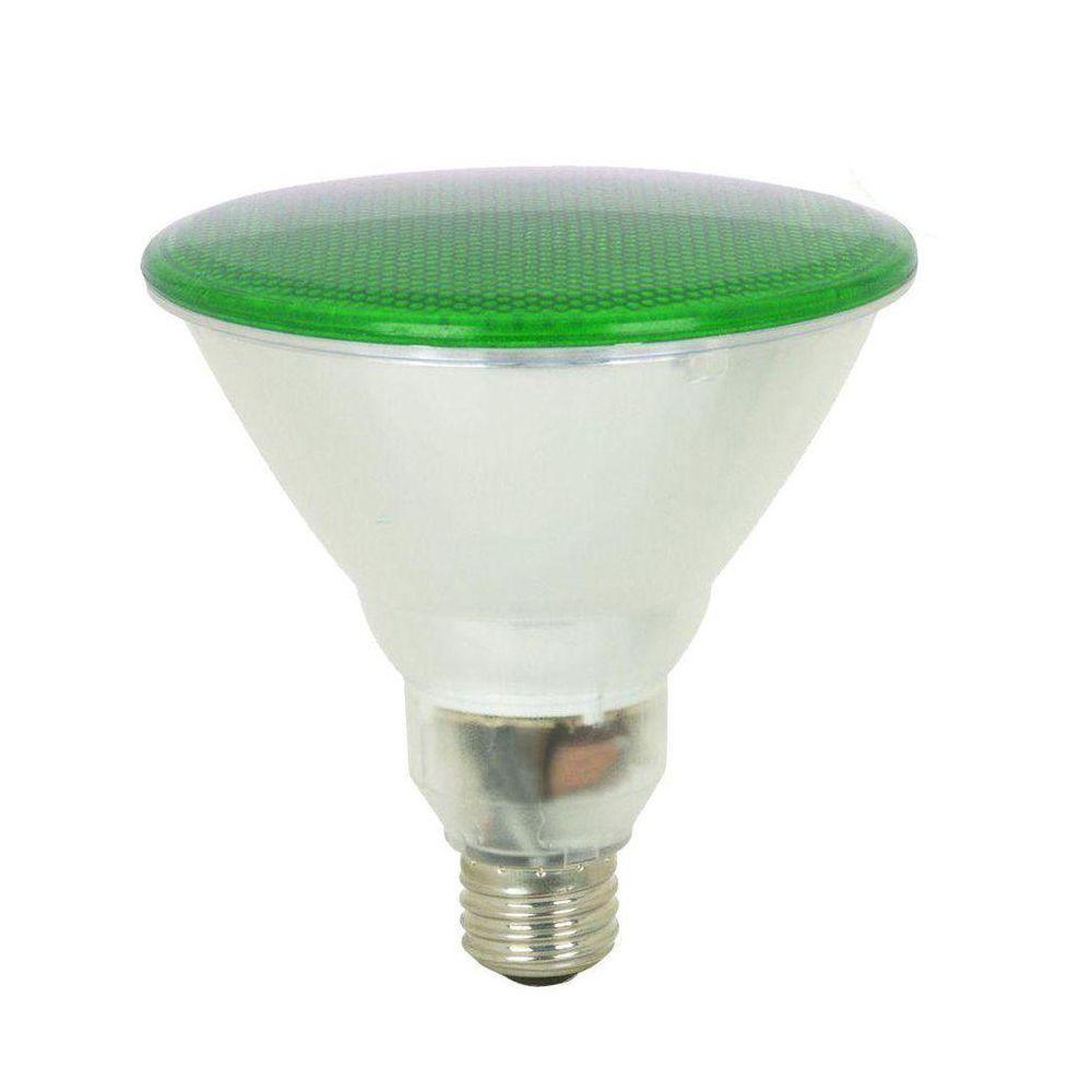 Feit Electric 100W Equivalent Green PAR38 CFL Flood Light Bulb (12-Pack)