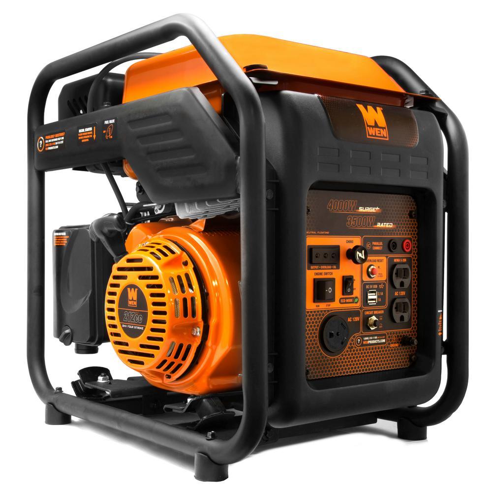 RV-Ready 4000-Watt Gas Powered Open Frame Inverter Generator, CARB Compliant