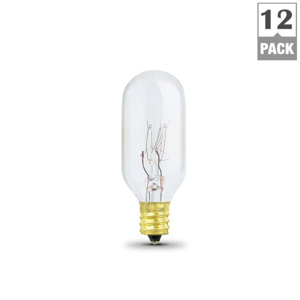 FEIT Electric 40-Watt 120-Volt T8 Microwave Oven Light Bulb Box Of 12 New