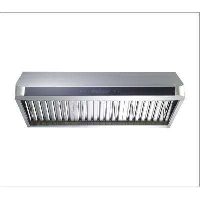 30 in. Convertible 600 CFM Under Cabinet Range Hood in Stainless Steel with Baffle Filters and Touch Control