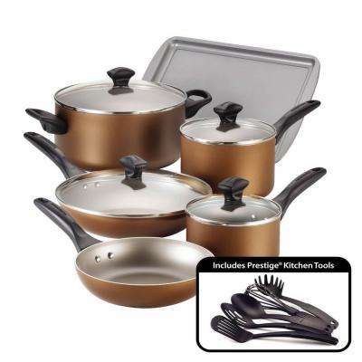 15-Piece Copper Cookware Set with Lids