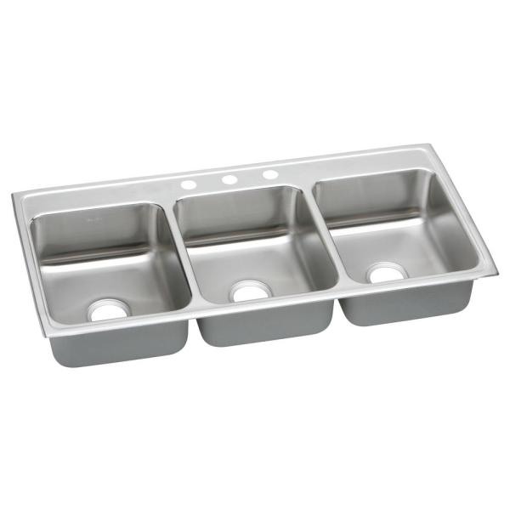 Elkay LRADQ2922504 Gourmet 4-Hole 29-Inch x 22-Inch Drop-Inch Double Basin Stainless Steel Kitchen Sink