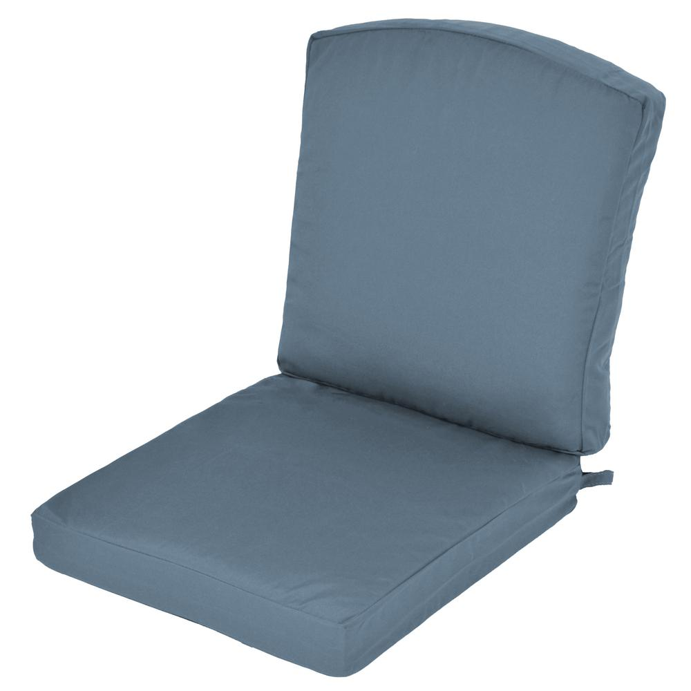 Oak Cliff Sunbrella Canvas Sapphire Replacement 2 Piece  : outdoor dining chair cushions 7947 01052104 641000 from www.homedepot.com size 1000 x 1000 jpeg 34kB