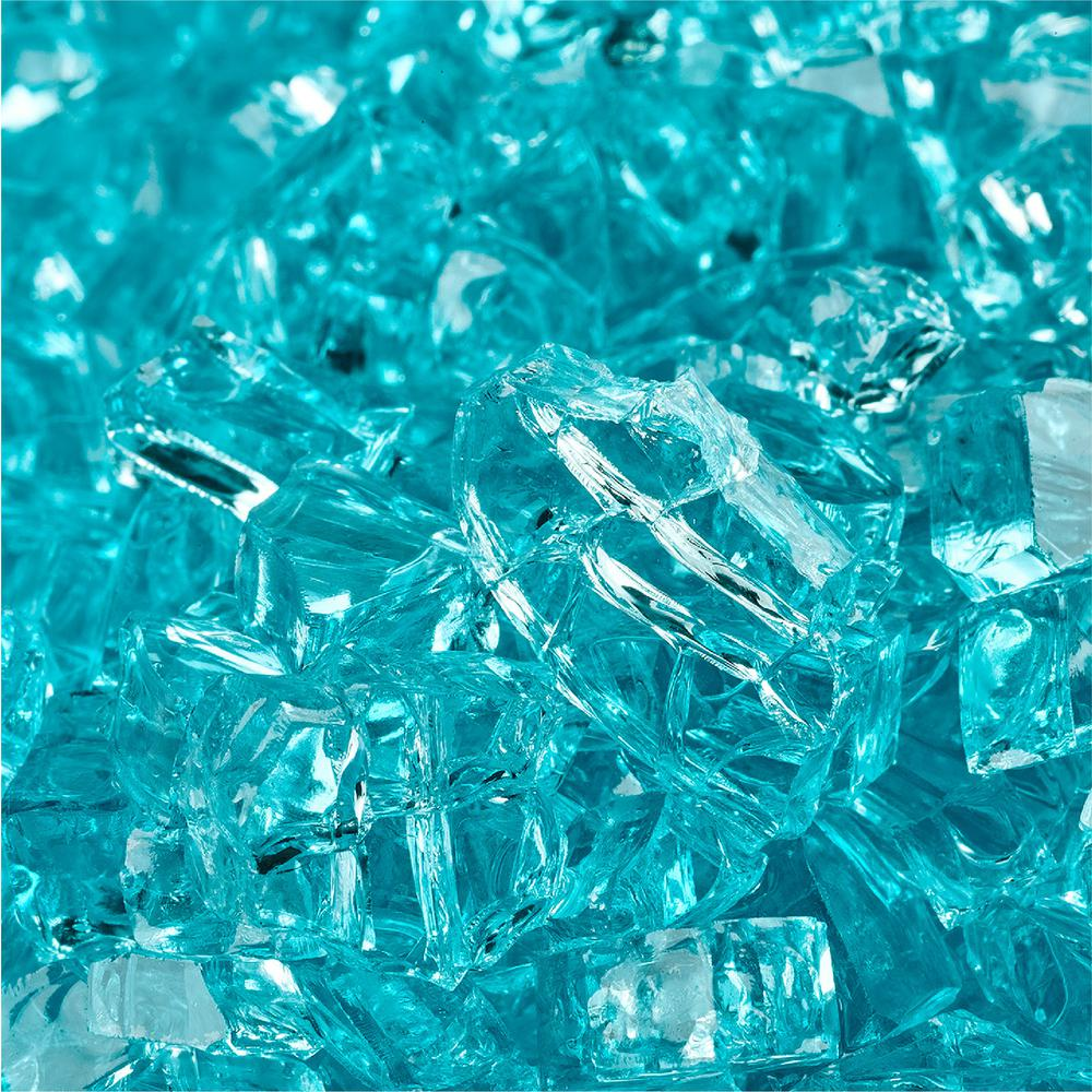 Fire Pit Essentials. 10 lbs. of Tahitian Blue 1/4 in. Fire Glass - Fire Pit Essentials 10 Lbs. Of Tahitian Blue 1/4 In. Fire Glass-01