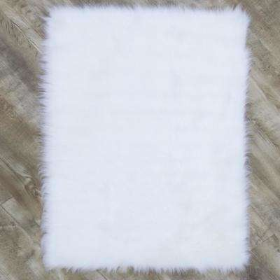 Faux SheepSkin White 5 ft. x 8 ft. Area Rug