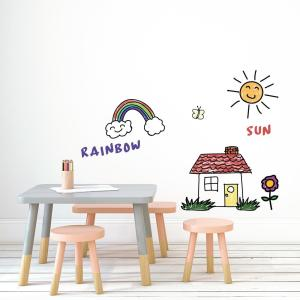 Dry Erase White Peel and Stick Wallpaper 28 sq. ft.