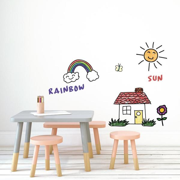Dry Erase White Vinyl Peelable Wallpaper (Covers 28 sq. ft.)